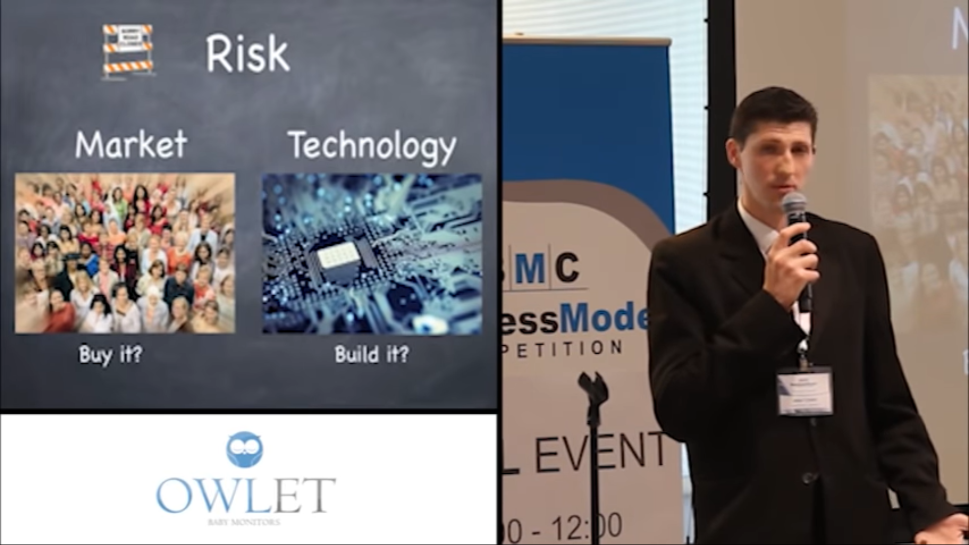 Colvin explaining why they tested market risk first before testing the technology risk