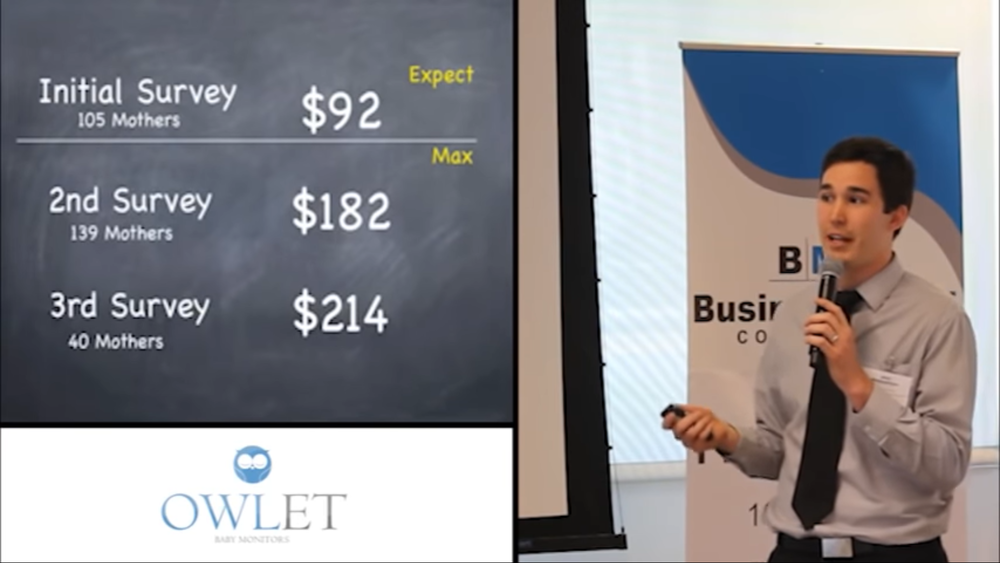 Co-founder Kurt Workman explaining how pricing opinions coming from customer surveys proved very unreliable and how A/B pricing tests provided more solid evidence.