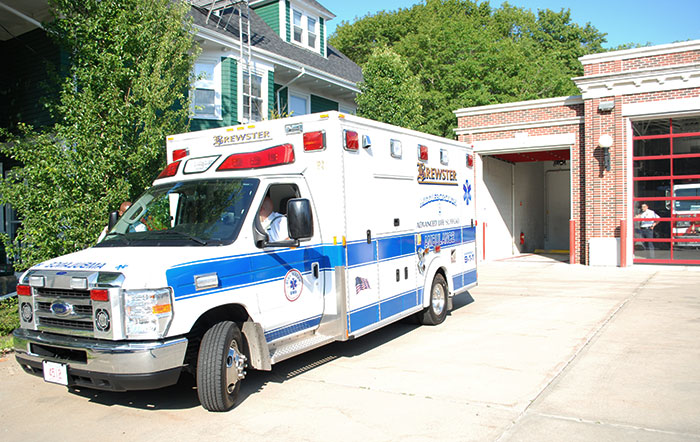 Town of Middleboro ALS emergency ambulance service vehicle