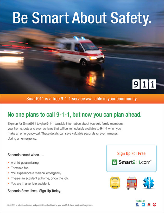 Download a PDF of the Smart911 Flyer
