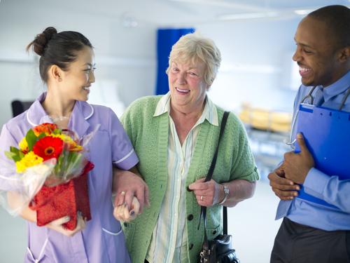 Senior Patient being Discharged