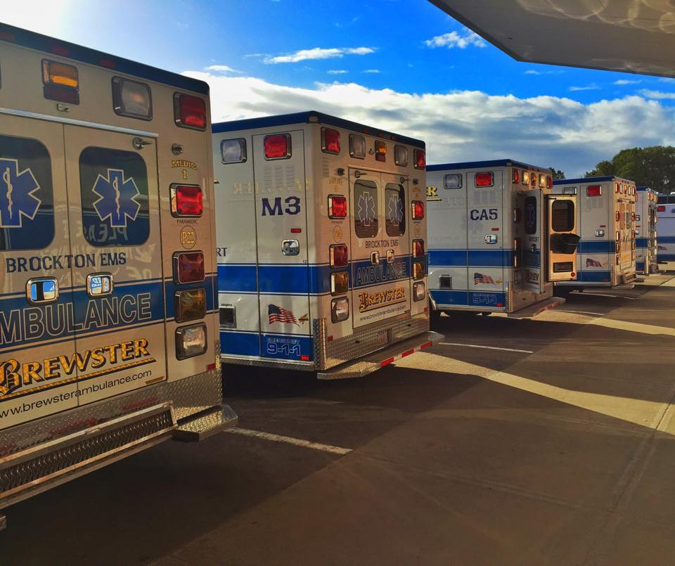 Ambulances at hospital