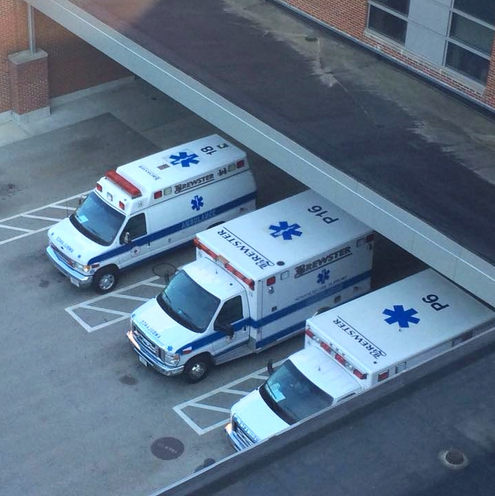 Brewster Ambulances at the hospital