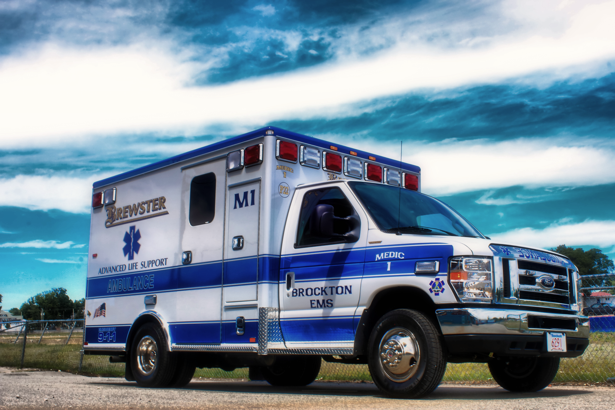 Brockton Advanced Life Support ambulance