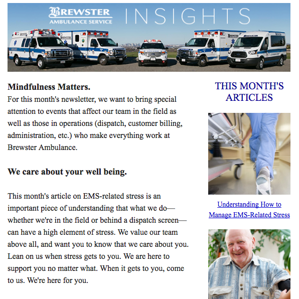 Brewster Ambulance Insights newsletter