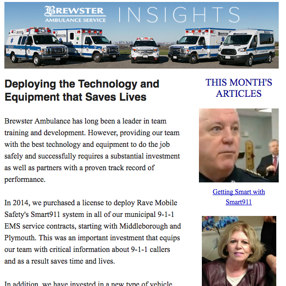 Brewster Ambulance Insights November Issue