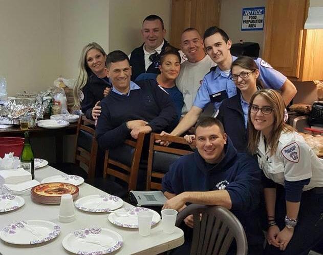 Brewster Ambulance's Taunton team at Thanksgiving, 2016