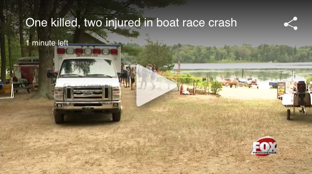 Bill Giles Memorial Regatta on Watson's Pond death and injuries (click image for video)