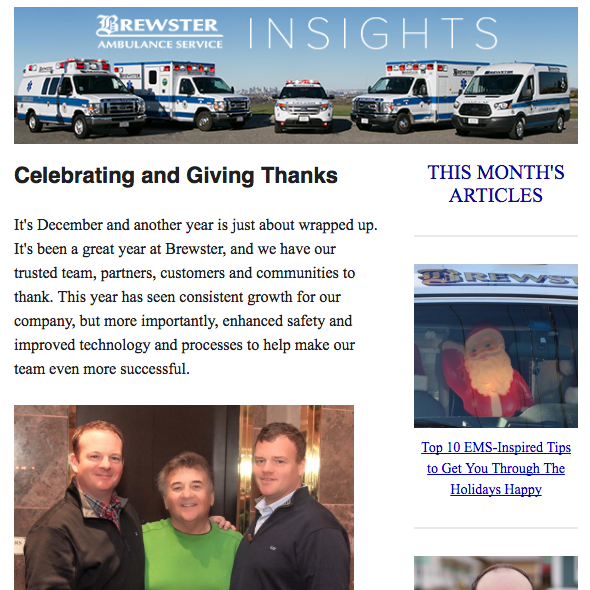 December Brewster Insights