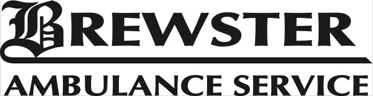Brewster Ambulance Service logo - black, eps file
