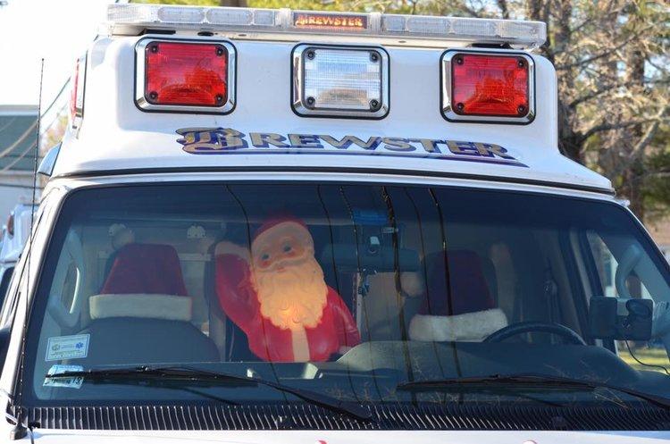 Santa in ambulance