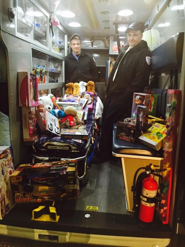 toys inside ambulance