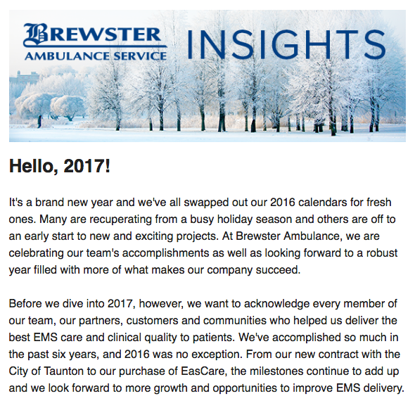 Brewster Insights January 2017