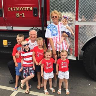 Chief and Mrs. Bradley and the grandkids