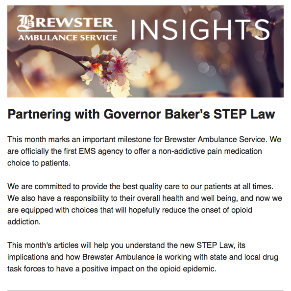 Brewster Ambulance Insights April issue