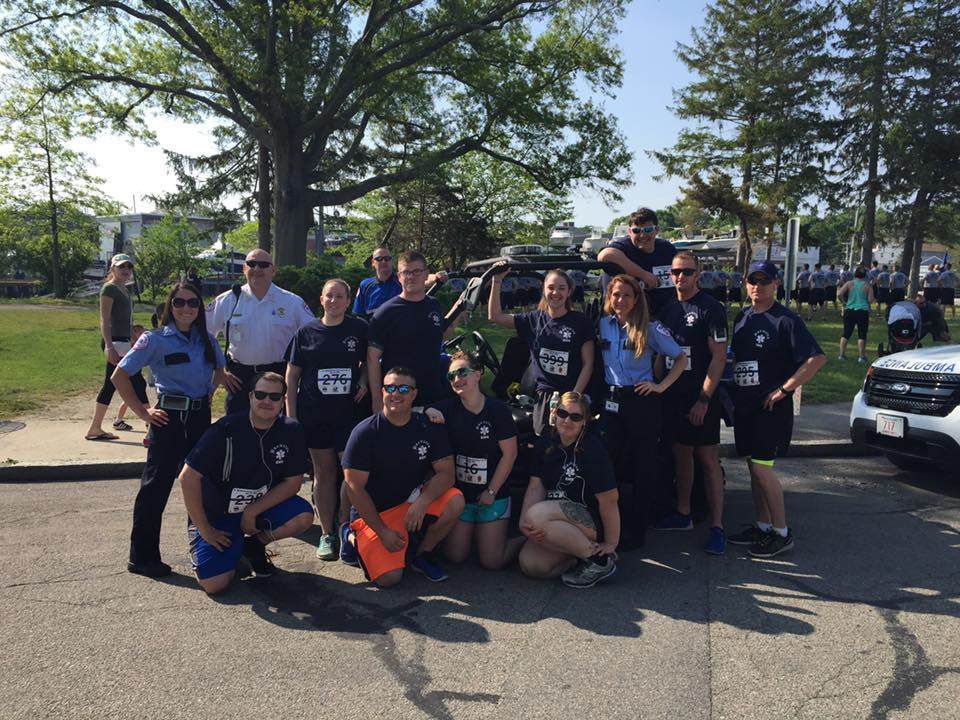 Brewster Ambulance team at the Heroes Live Forever 5K, supporting the memory of Plymouth MC Officer Gregg Maloney (5/2016)