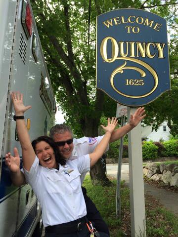 Deb Johnson and Jonathan Oates, Braintree paramedics