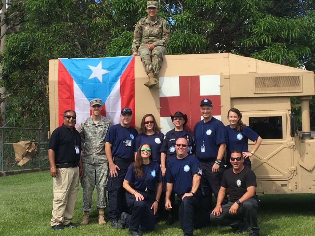 Utuado, Puerto Rico, crew with our US Department of Defense and Puerto Rico security detail.