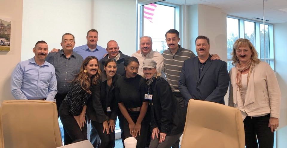 Brewster Ambulance Service Business Development team participating in  Movember , 2017