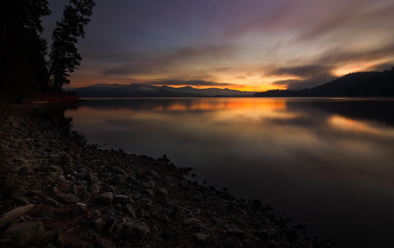 The Sun Rises   Chatcolet Lake, Idaho