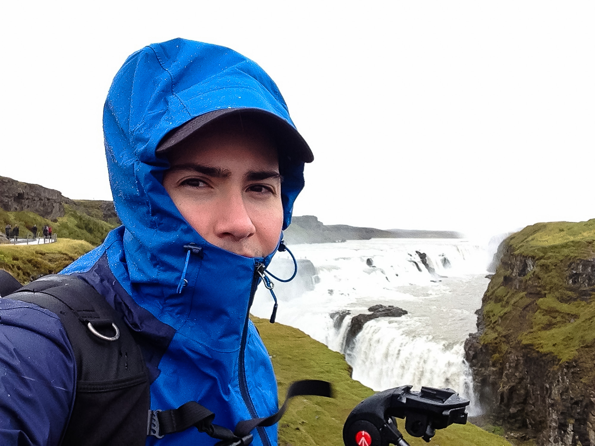 Gloomy skies, stinging winds, and icy rain was not what I was hoping for at Gullfoss (Golden Falls)