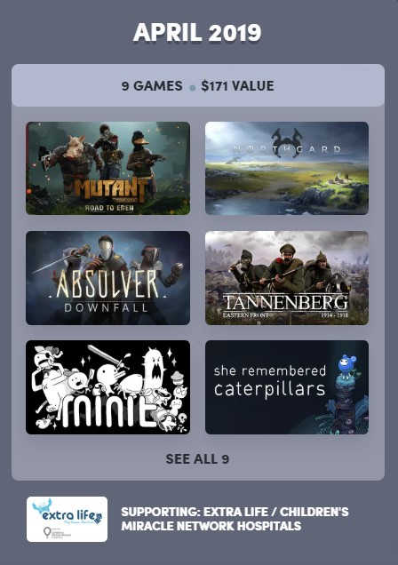 Humble Bundle Experience: April 2019