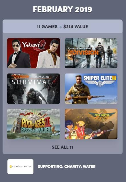 Humble Bundle Experience: February 2019