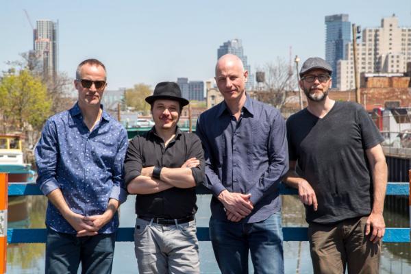 photo by rachel stern . Michael Sarin, Trevor Dunn, Erik Friedlander, Michael Blake