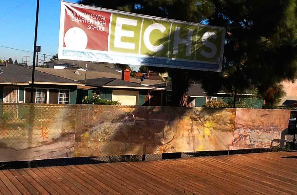 Environmental Charter High School Outdoor Theatre Backdrop 2013