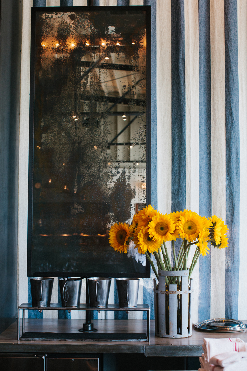 The Optimist | Smith Hanes. restaurant detail : sunflowers