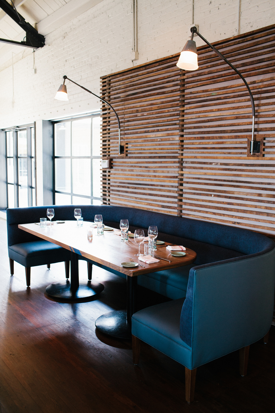 The Optimist | Smith Hanes. restaurant booth seating