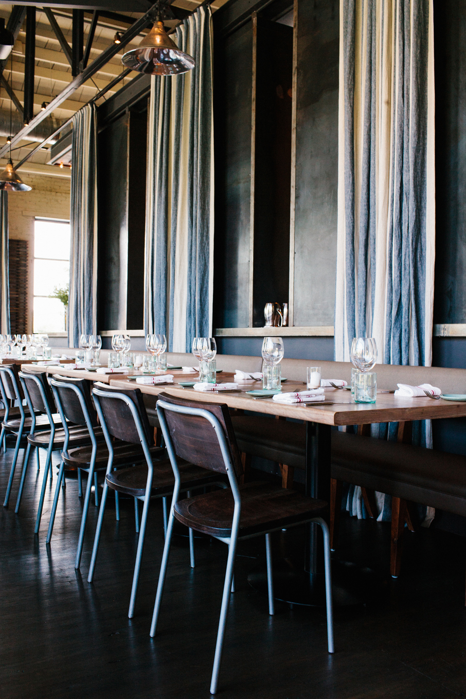 The Optimist | Smith Hanes. restaurant table seating