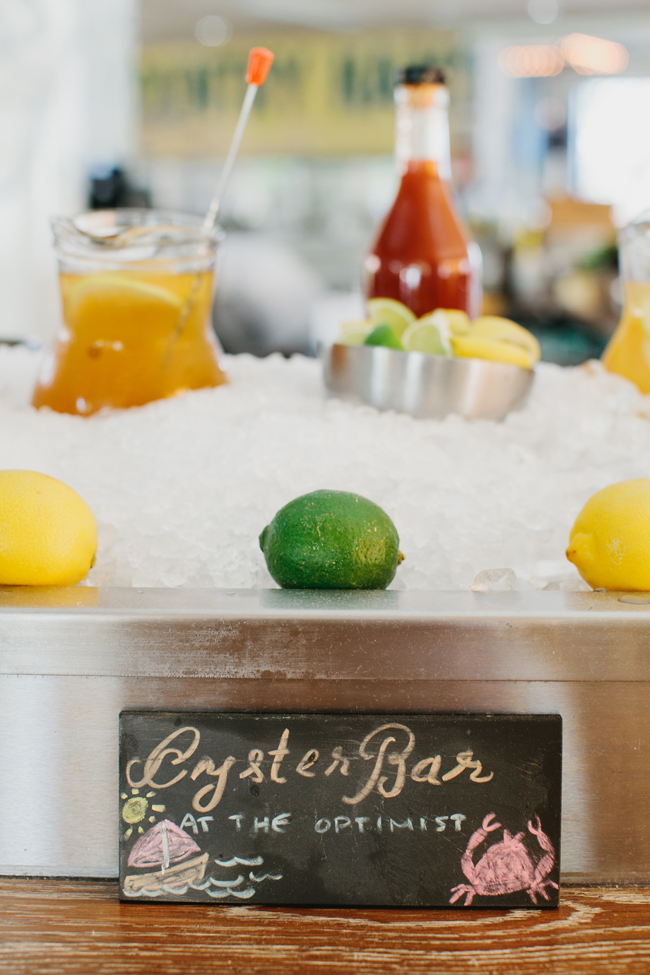 The Oyster bar at The Optimist | Smith Hanes. bar detail