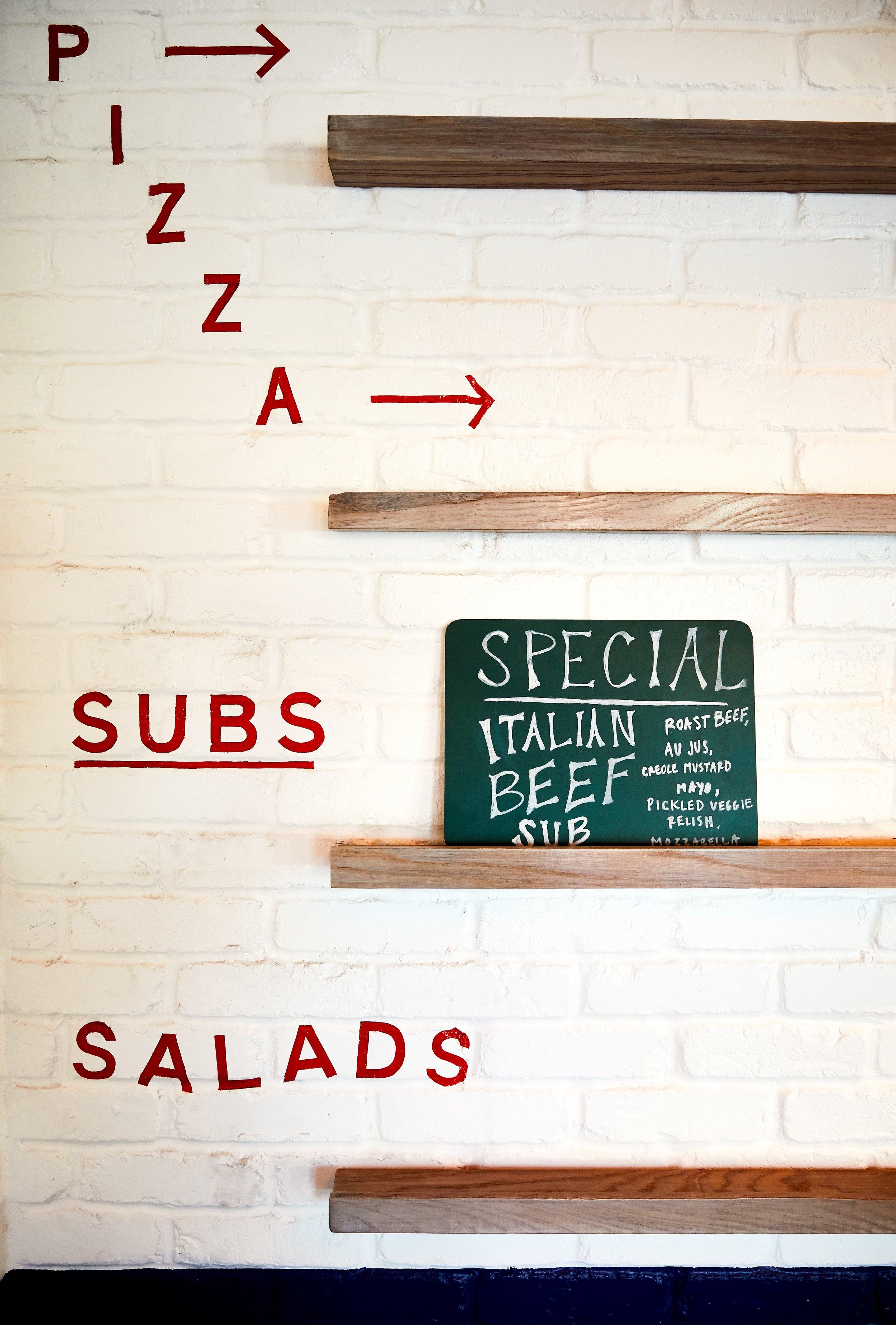 Southside Slice | Smith Hanes. Menu Board