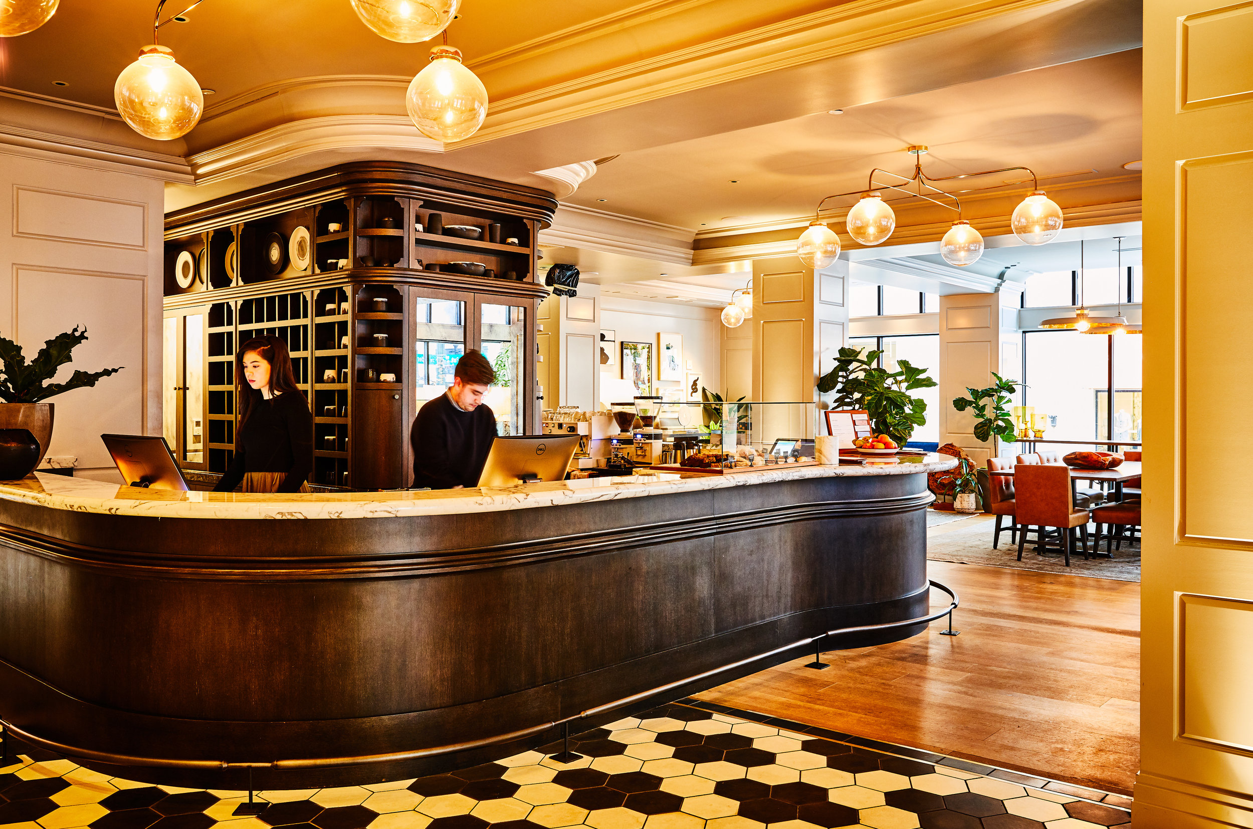 Woodlark Lobby | Smith Hanes. Coffee Bar and Checkin