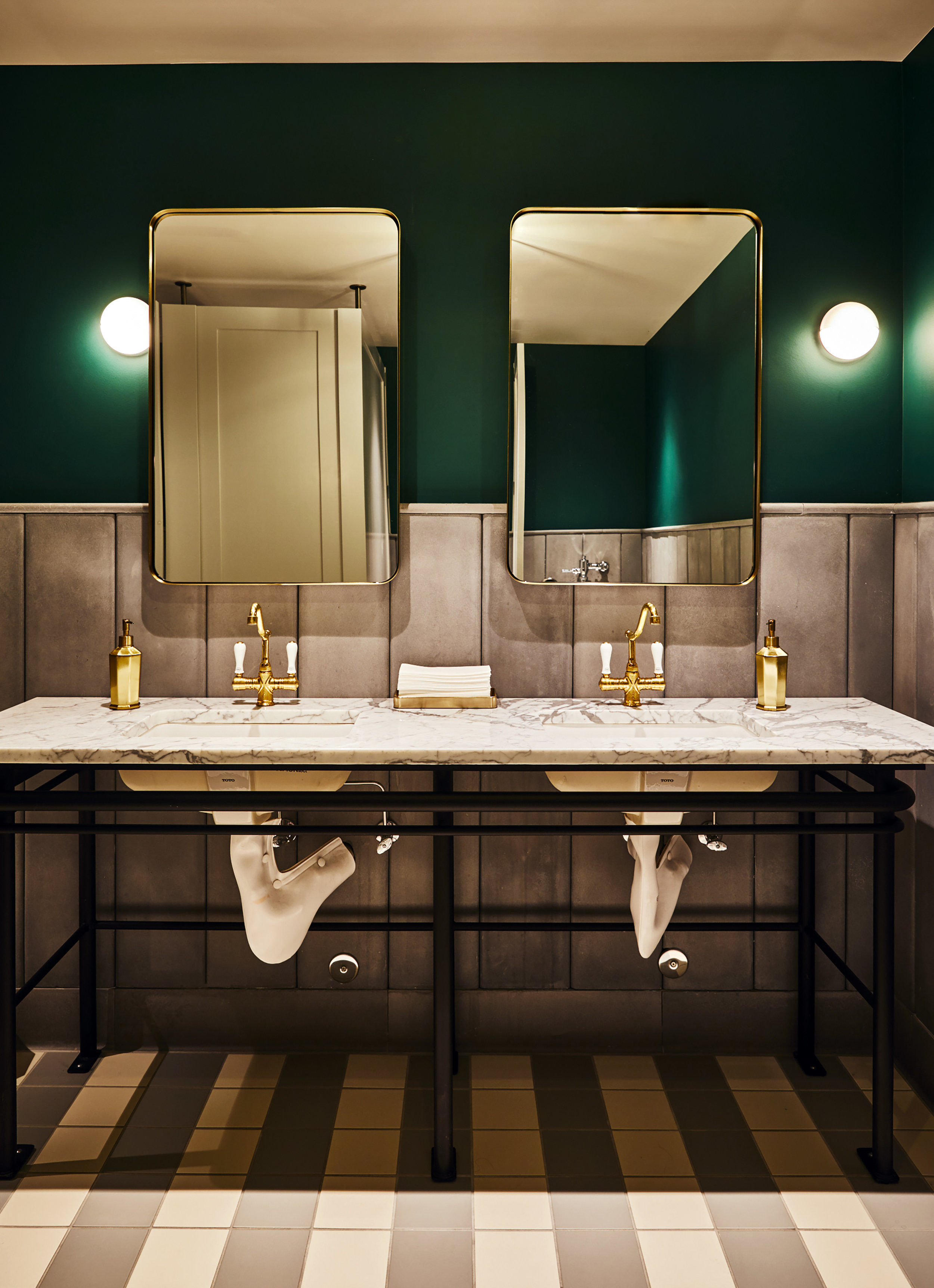 Woodlark Lobby | Smith Hanes. Bathrooms