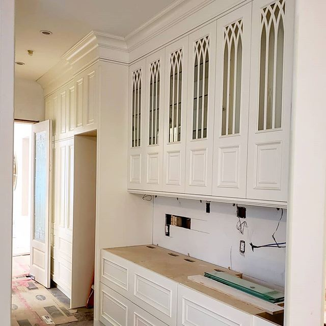 Dramatic design details are afoot at our Laurier project in Vancouver's Shaughnessy region. .  Millwork Designer: Geoff Wohlgemuth . .  #progresspic #kitchensdesignedforlife #custommillwork #millwork #kitchendesigner #interiordesign #vancouver #customhome @nickelscabinets