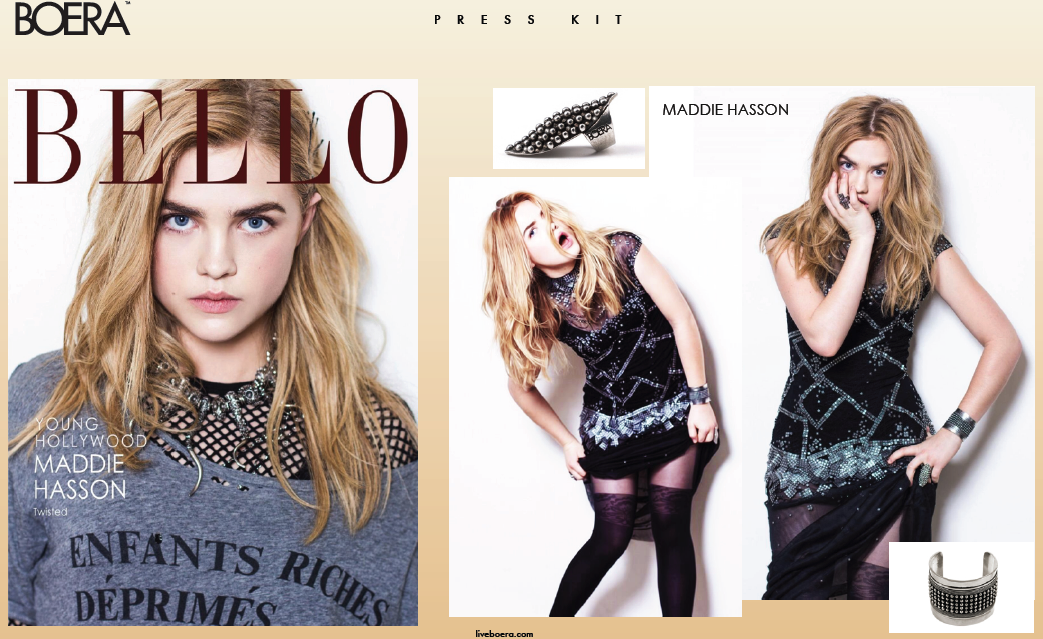 Maddie Hasson in BELLO magazine