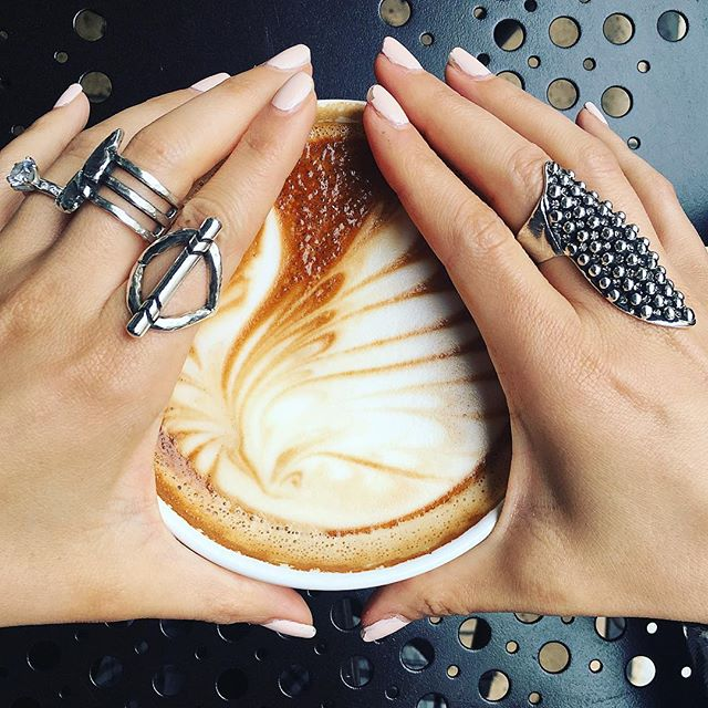 Coffee ☕️ + Rings. #boerajewelry