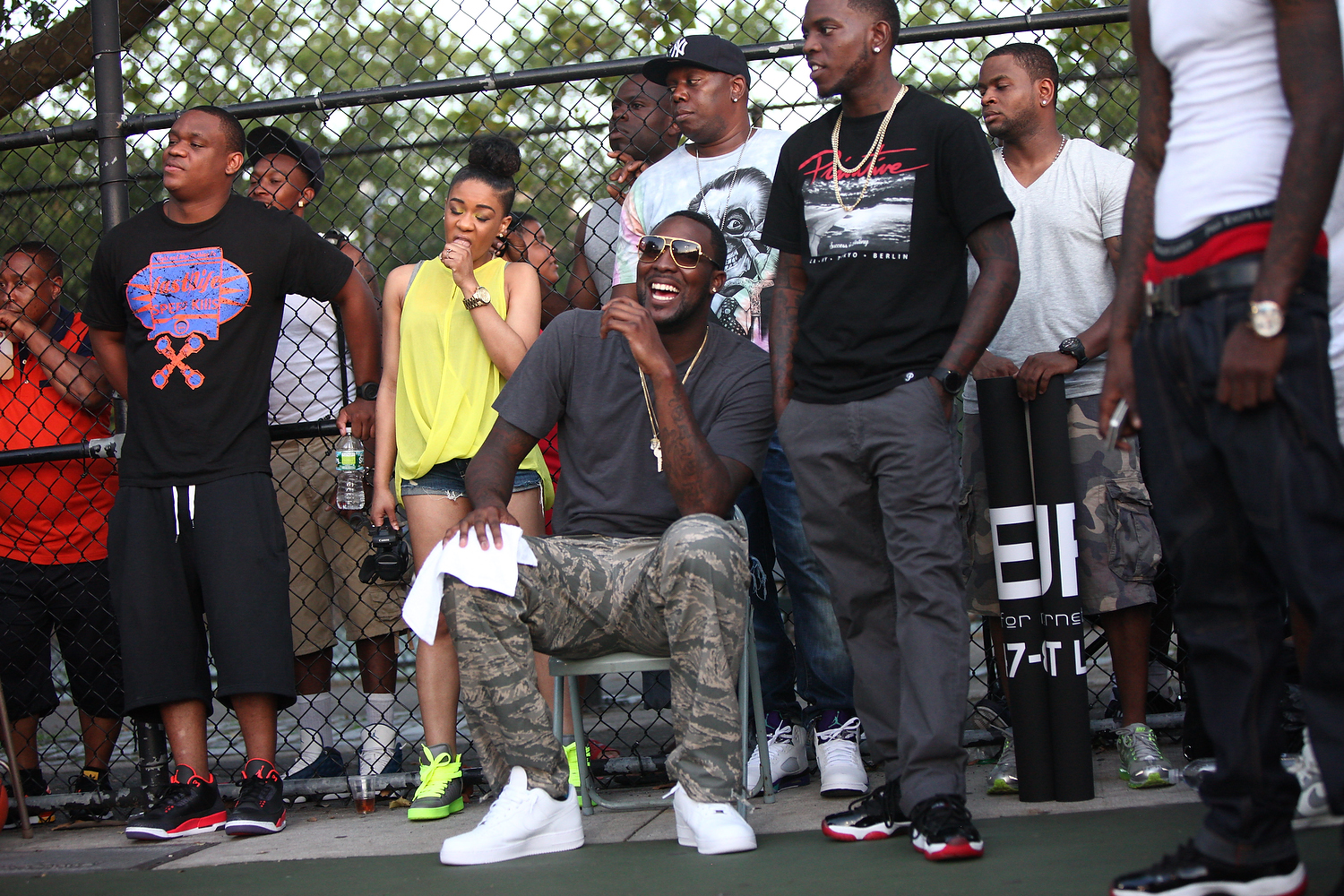 Arndray Blatche of the Brooklyn Nets came out and supported Gersh from the sidelines as he took in the high-energy atmosphere.