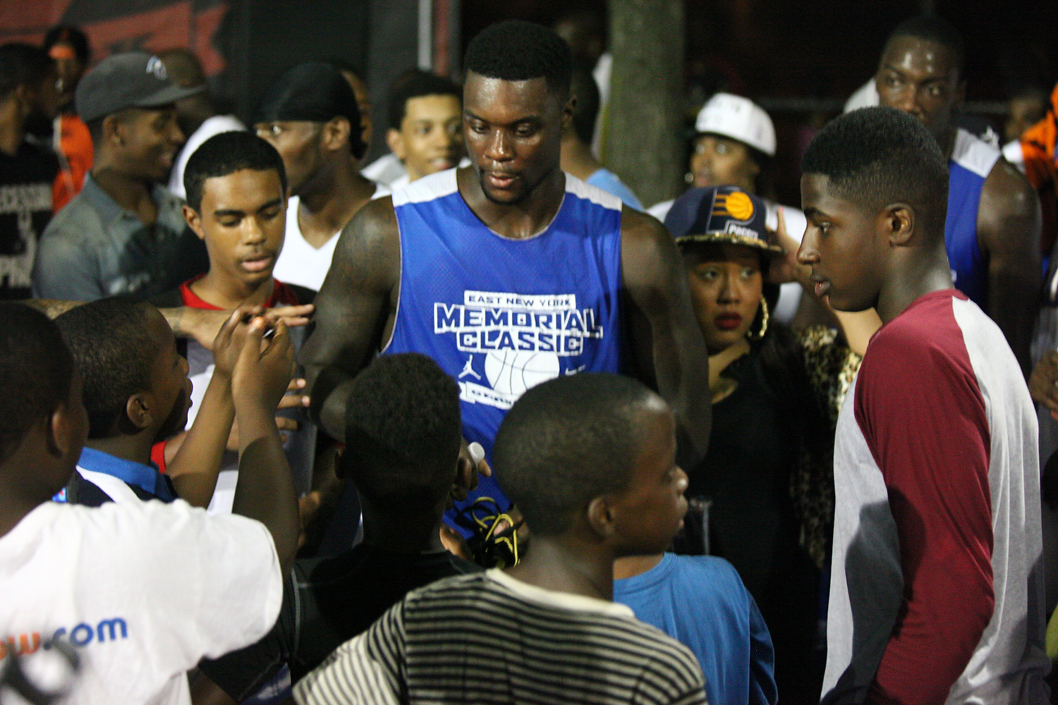 """After the game, Lance """"Born Ready"""" Stephenson stuck around to sign some autographs for kids from his hometown, Brooklyn."""