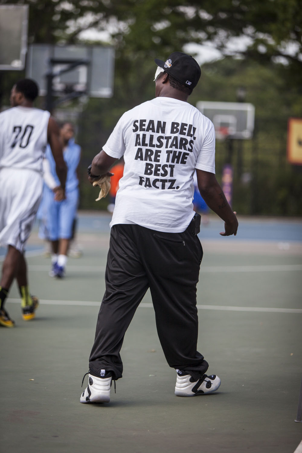 """Coach Rah Wiggins, a.k.a. """"The Bobby Knight of Streetball,"""" of the Sean Bell All-Stars is a legendary coach who holds his players accountable and flat out knows the game."""