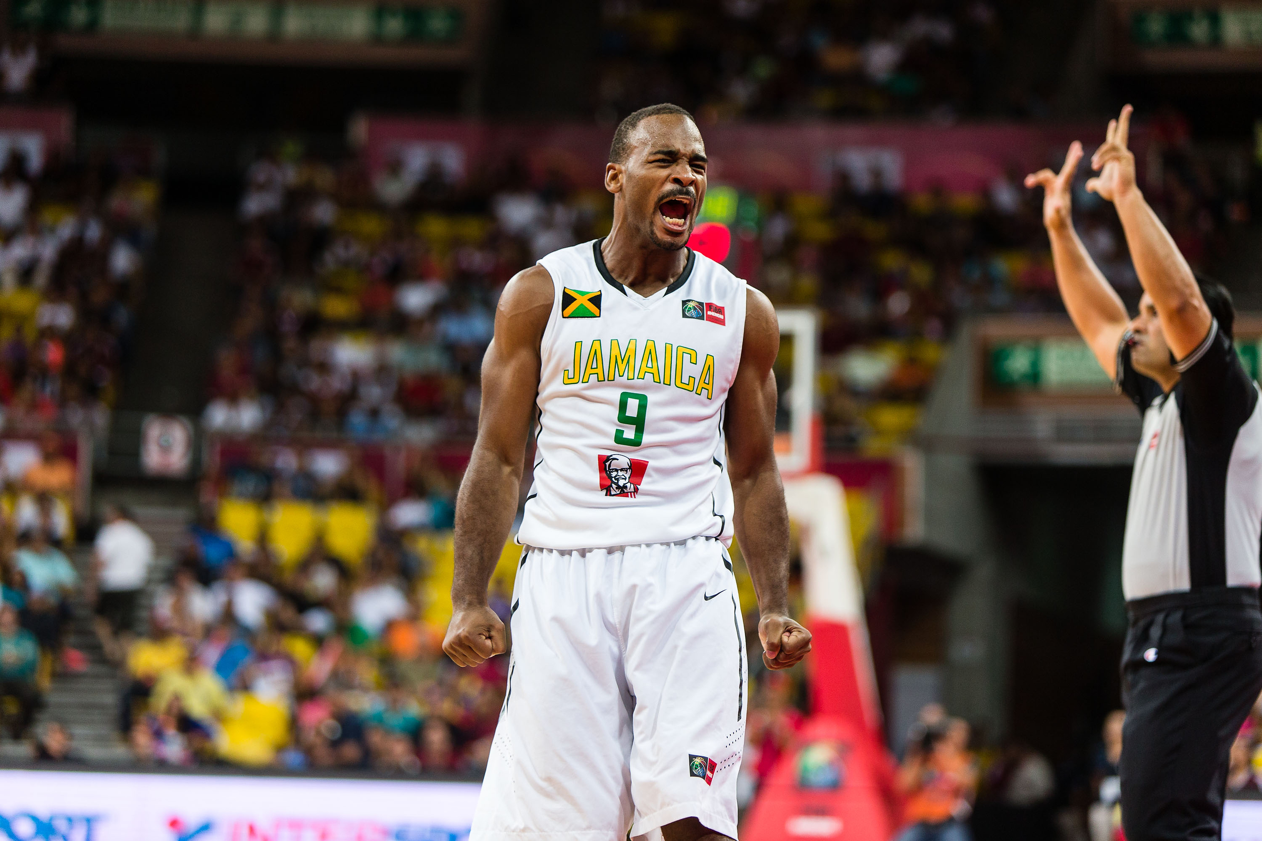 Jamaica's Akeem Scott was the emotional leader of his team in its first appearance in international basketball competition.