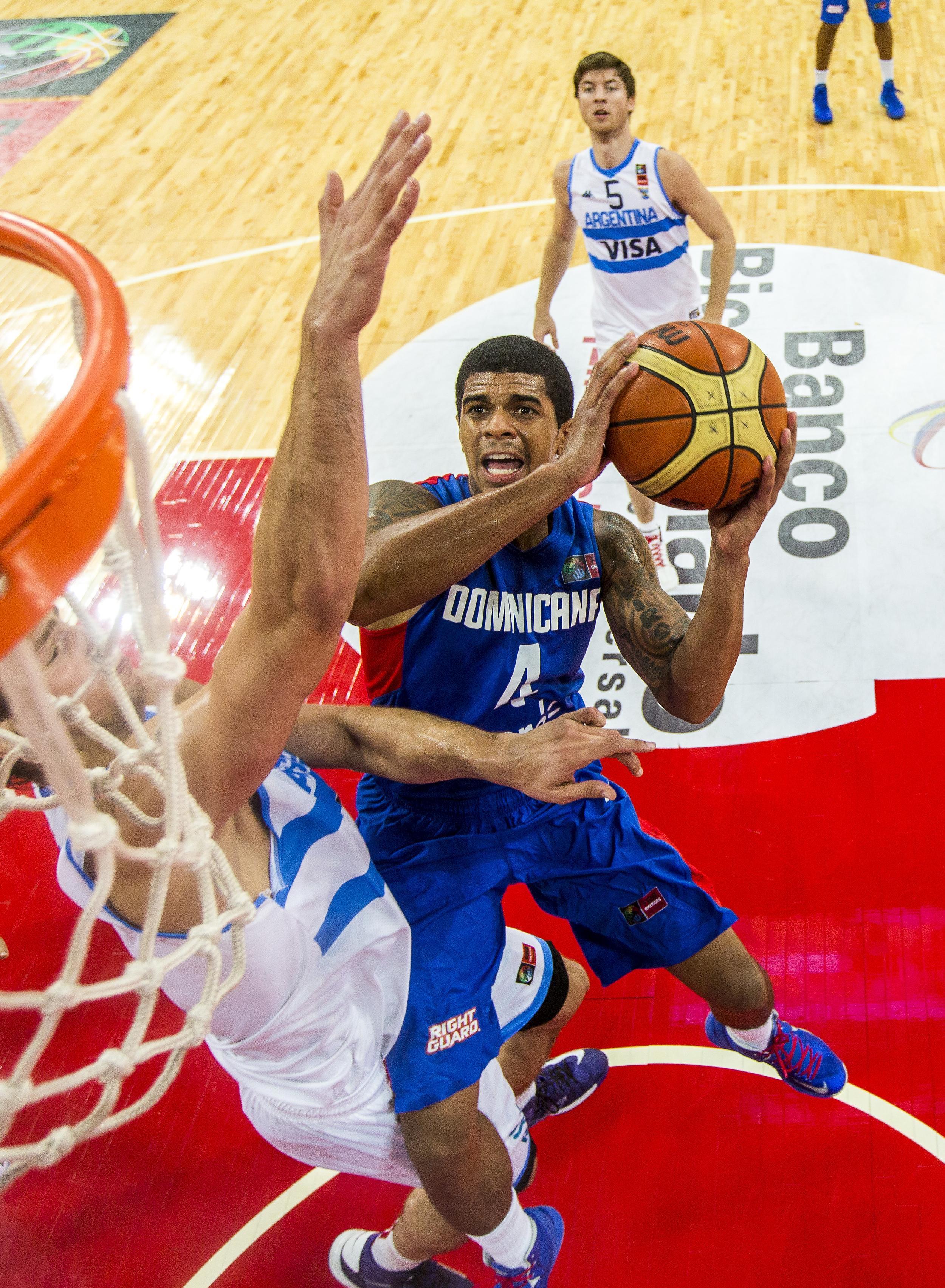 Edgar Sosa (Dominican Republic) Attacks the Basket