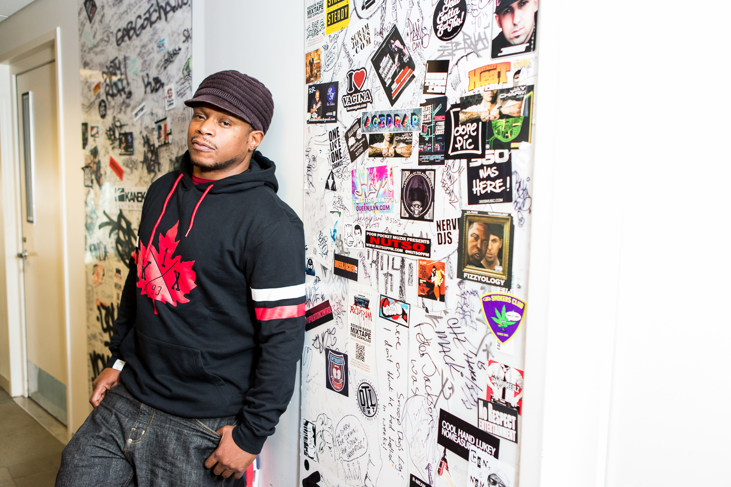 Sway, outside the Shade 45 studio in Manhattan, was down to earth, very easy to work with and generous with his time.