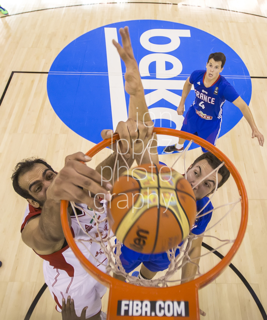 Up close and personal with Iran's Haddadi, a force to be reckoned with in the paint.