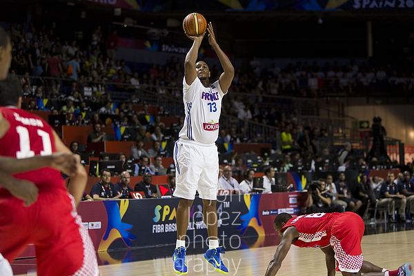 France's Boris Diaw (13) was a coach on the floor for his national team, which should come as no surprise as he is fresh off of a dominant NBA title with the San Antonio Spurs, but his leadership was top notch. France finished with the bronze medal.