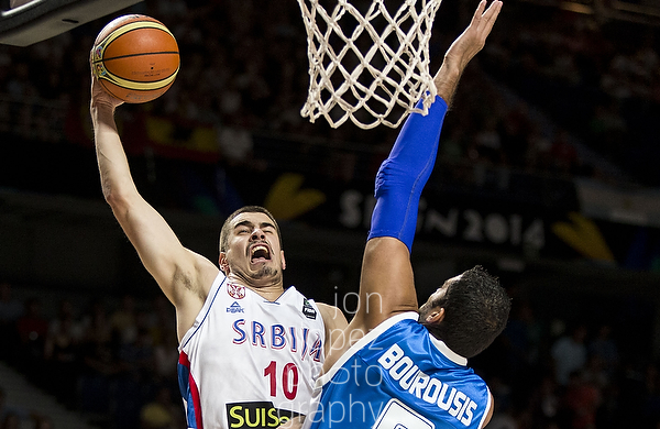 The match up between Serbia and Greece was as electric as any other game during the entire tournament. This dunk sparked a shaking roar from the crowd.