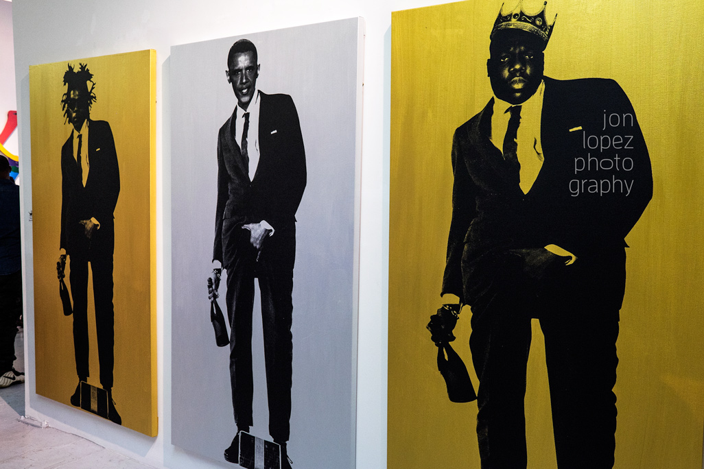 This reimagining of the famous Slick Rick image drew lots of attention at Art Basel 2014.