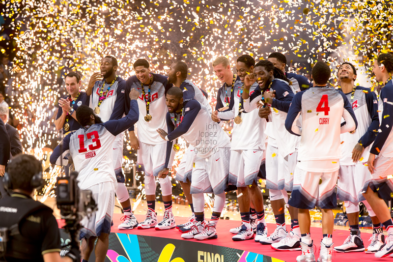 I had the great pleasure of capturing Team USA celebrate their gold medal win during the FIBA Basketball World Cup in Madrid in September of 2014.